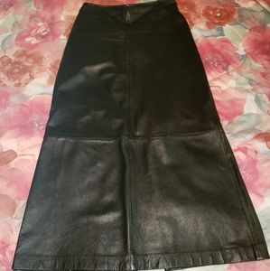 Black leather skirt from WILSONS LEATHER
